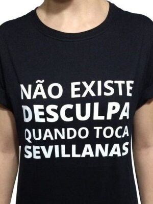 Camiseta Flamenca Não Existe Desculpa Preta