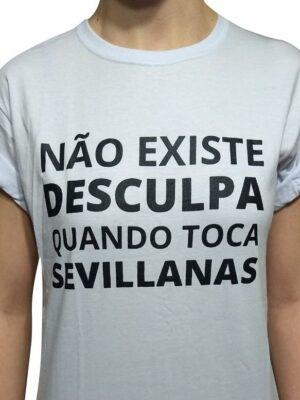 Camiseta Flamenca Não Existe Desculpa Branca