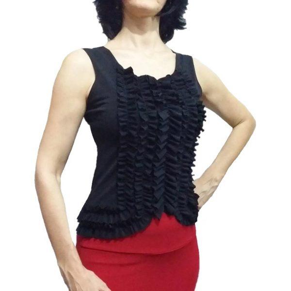 Regata Flamenca Camélia Frufru Preta