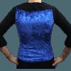 Colete Flamenco Cigano Veludo Molhado Azul