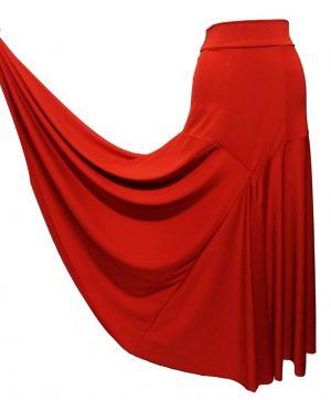 Saia Gardênia Vermelha Lisa