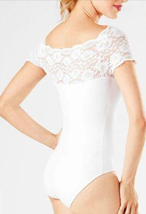 Collant renda branco flamenco