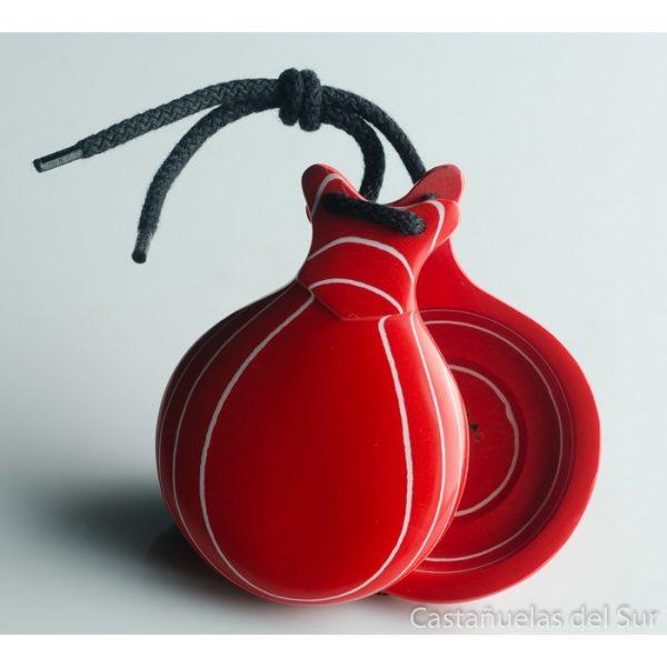Castanhola profissional vidrio rojo veteado branco caja doble Nº5