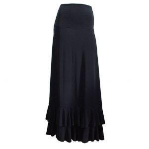 Saia jasmin dança flamenca preta
