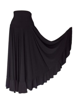 Saia Flamenca Hibisco Preta