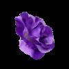 Flor Flamenca Gigante Roxa com passador