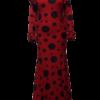 Vestido Flamenco Petúnia Vermelho Bolão Bolinha Preto
